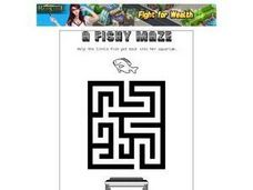 A Fishy Maze Worksheet