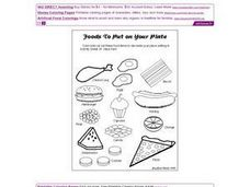 Foods to Put on Your Plate Worksheet