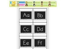 Alphabet Letters A-Z and Alphabet Numbers 0-9 Worksheet