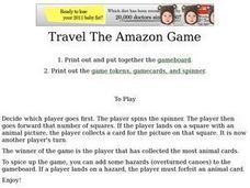 Travel the Amazon Game Worksheet