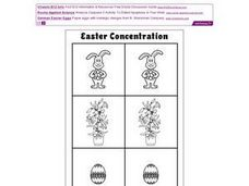 Easter Concentration Worksheet