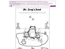 Mr. Frog's Pond Worksheet