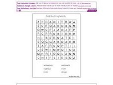 Find the Frog Words Worksheet