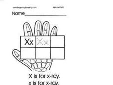 Alphabet Letter X Lesson Plan