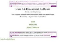 Make a Two-Dimensional Dollhouse Worksheet