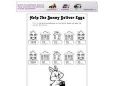 Help the Bunny Deliver Eggs Worksheet