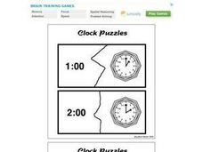 Clock Puzzles Worksheet