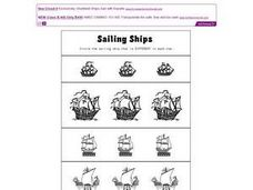 Sailing Ships Worksheet