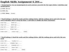 English Skills Assignment 6.204 Worksheet