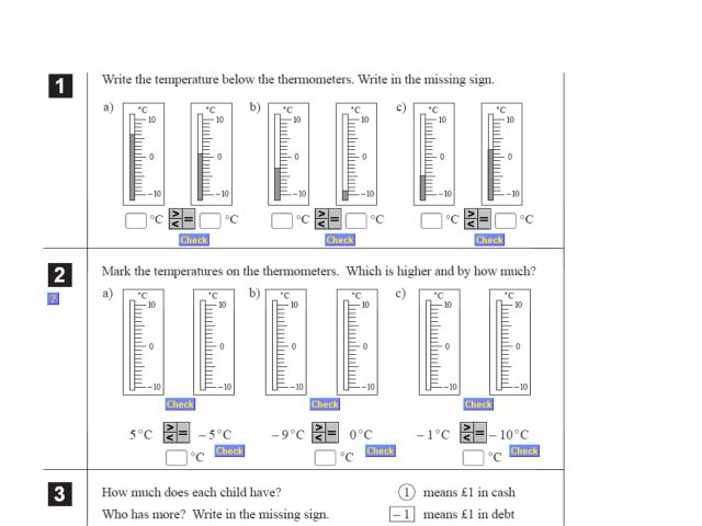 Real Life Positive and Negative Numbers Worksheet for 5th