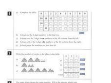 Number Problem Worksheet Worksheet