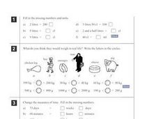 Units of Measurement Worksheet Worksheet