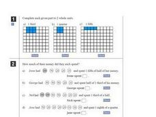 Fractions and Whole Units Worksheet