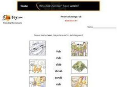 Phonic Endings:  --ub Worksheet