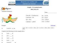 U.S. Standard Units to Measure Length Worksheet