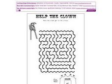 Help the Clown Get to the Circus (Maze) Worksheet