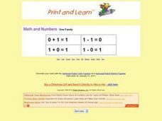 One Family Math Problems Worksheet