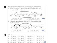 Magic Squares and Adding on a Number Line Worksheet