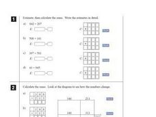 Addition and Estimation Worksheet