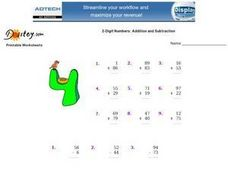 2-Digit Numbers: Addition and Subtraction Worksheet