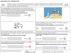 Penpal Story Problem Puzzle Worksheet