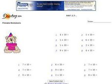 Add 1, 2, 3... Worksheet