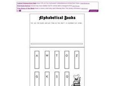Alphabetical Books Worksheet