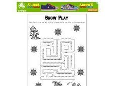 Snow Play Worksheet