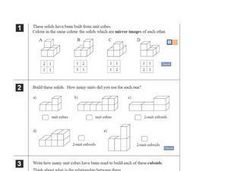 Building Solids Using Unit Cubes Worksheet