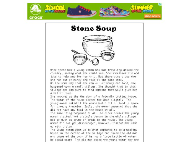 picture about Stone Soup Story Printable known as Stone Soup: Performing Out the Tale Worksheet for 1st - 2nd
