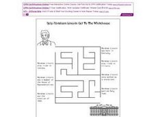 Help Abraham Lincoln Get to the White House Worksheet