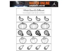 Which Gourd is Different?  Worksheet Worksheet