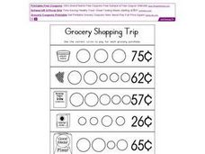 Grocery Shopping Trip - Coin Values Worksheet