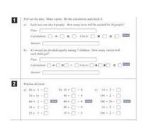Basic Multiplication and Division Story Problems Worksheet