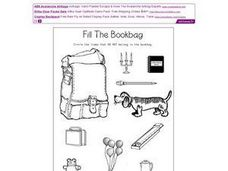 Fill the Bookbag Worksheet