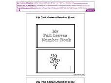 My Fall Leaves Number Book Worksheet