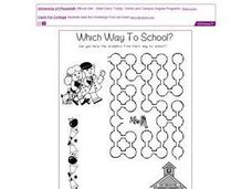 Which Way to School? Worksheet