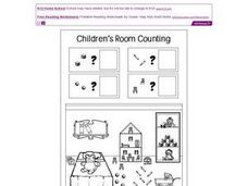 Children's Room Counting Worksheet