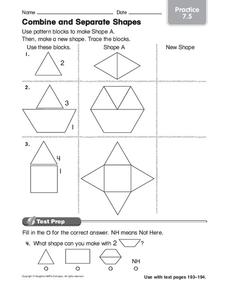 Combine and Separate Shapes Worksheet