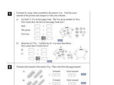 British Units of Measurement: Pounds, Pence, Meters, Centimeters Worksheet