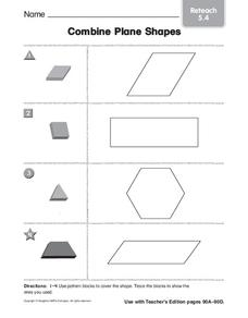 Combine Plane Shapes Worksheet