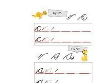 Lower Case Cursive A and C Worksheet