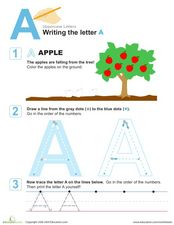 "Writing the Letter ""a"" Worksheet"