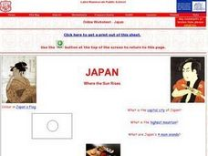 Japan Worksheet Worksheet