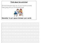 Think About Fun Activities Worksheet