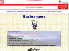 Bushrangers Worksheet
