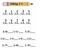 Adding 1's Worksheet