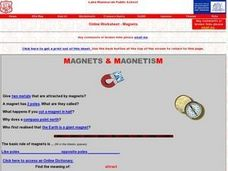 Magnets & Magnetism Worksheet