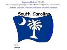South Carolina Worksheet Worksheet