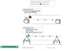 Practice Writing A and a Worksheet